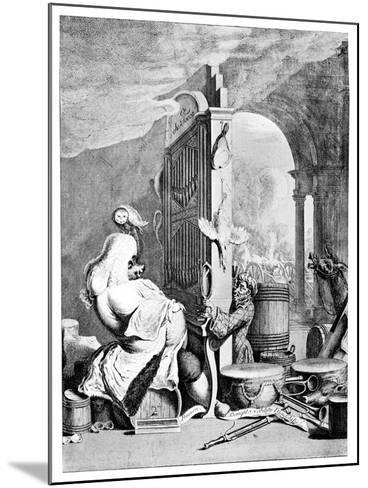 The Charming Brute, (A Satire on Hande), 1754--Mounted Giclee Print