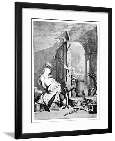 The Charming Brute, (A Satire on Hande), 1754--Framed Art Print