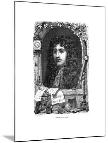 Christiaan Huygens (1629-169), Dutch Physicist, Mathematician and Astronomer, C1870--Mounted Giclee Print