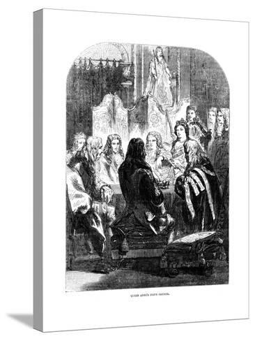 Queen Anne's (1665-171) Privy Council--Stretched Canvas Print