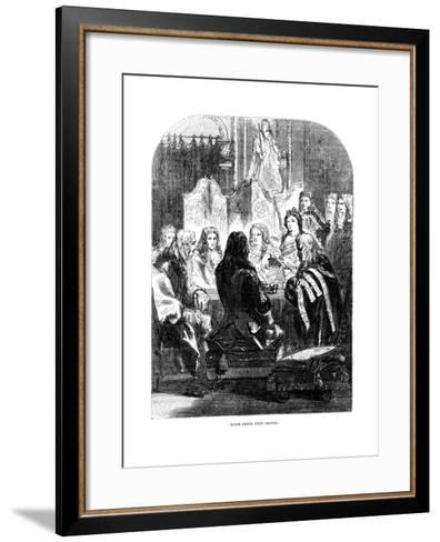 Queen Anne's (1665-171) Privy Council--Framed Art Print