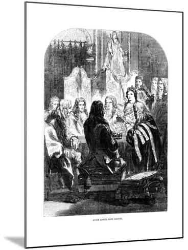Queen Anne's (1665-171) Privy Council--Mounted Giclee Print