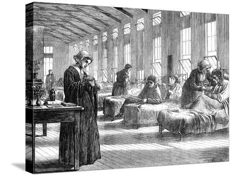Ward in the Hampstead Smallpox Hospital, 1871--Stretched Canvas Print