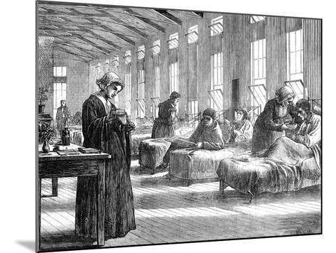 Ward in the Hampstead Smallpox Hospital, 1871--Mounted Giclee Print