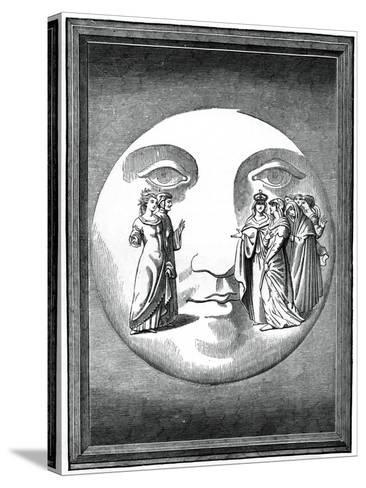 Dante and Beatrice Transported to the Moon, 16th Century--Stretched Canvas Print
