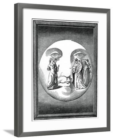 Dante and Beatrice Transported to the Moon, 16th Century--Framed Art Print
