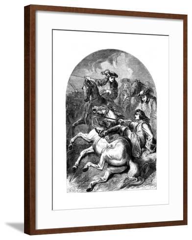 Battle of Malplaquet, 1709--Framed Art Print