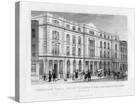 Religious Tract Society's Repository, Paternoster Row, London, 19th Century--Stretched Canvas Print