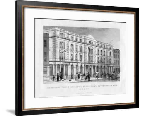 Religious Tract Society's Repository, Paternoster Row, London, 19th Century--Framed Art Print