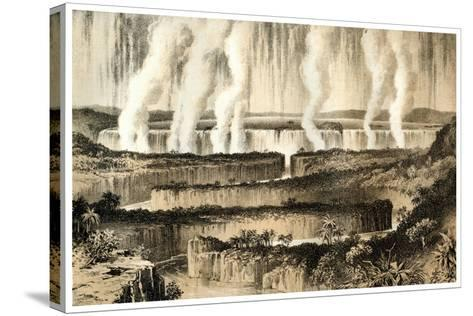 Victoria Falls of the Zambesi, 1883--Stretched Canvas Print