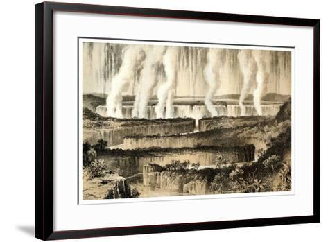 Victoria Falls of the Zambesi, 1883--Framed Art Print