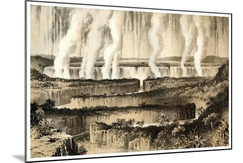Victoria Falls of the Zambesi, 1883--Mounted Giclee Print