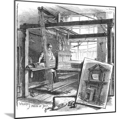A Spitalfields Silk Weaver at His Hand Loom, 1884--Mounted Giclee Print