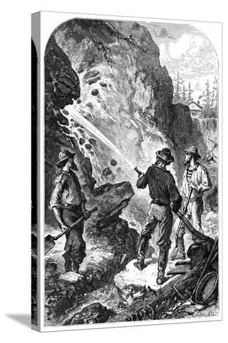 Gold Mining, California, USA, C1868--Stretched Canvas Print