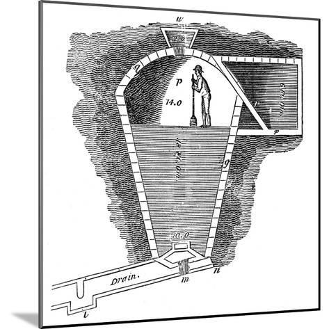 Refrigeration: Sectional View of an Ice House--Mounted Giclee Print