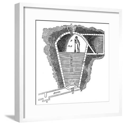 Refrigeration: Sectional View of an Ice House--Framed Art Print