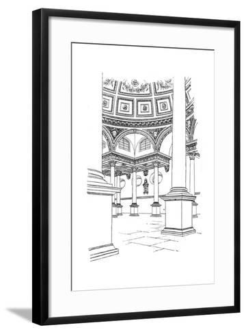 Interior of St Stephen's Church, Walbrook, City of London, 1893--Framed Art Print