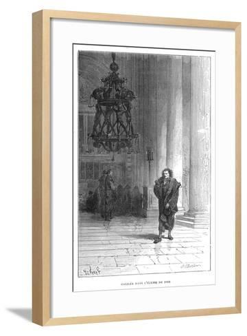 Galileo Observing the Swaying of the Chandelier in Pisa Cathedral, C1584--Framed Art Print