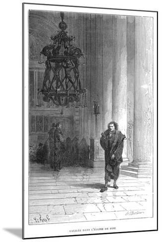 Galileo Observing the Swaying of the Chandelier in Pisa Cathedral, C1584--Mounted Giclee Print
