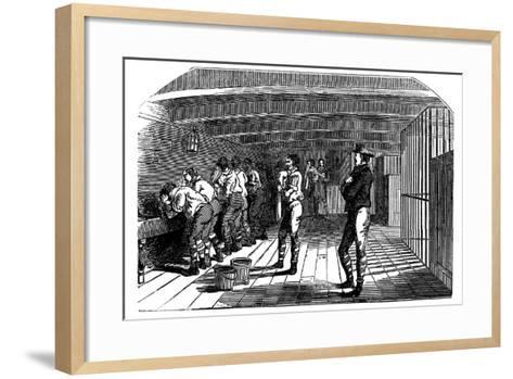 On Board a Prison Hulk, 1848--Framed Art Print