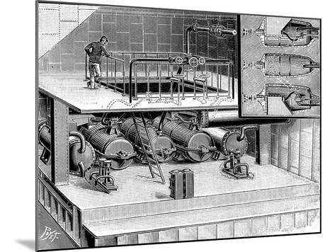 Steam Turbines Fitted into the Dover Packet Boat Queen, 1904--Mounted Giclee Print