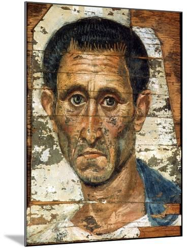 Portrait of a Middle-Aged Man in a Blue Cloak, Romano-Egyptian Mummy Portrait, Late 1st Century--Mounted Giclee Print