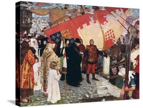 The Departure of John and Sebastian Cabot...On their First Voyage of Discovery in 1497, 1906-Ernest Board-Stretched Canvas Print