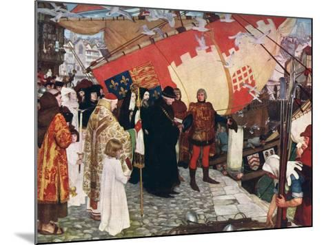 The Departure of John and Sebastian Cabot...On their First Voyage of Discovery in 1497, 1906-Ernest Board-Mounted Giclee Print