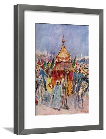 The Procession of the Mahmal, Cairo, Egypt--Framed Art Print