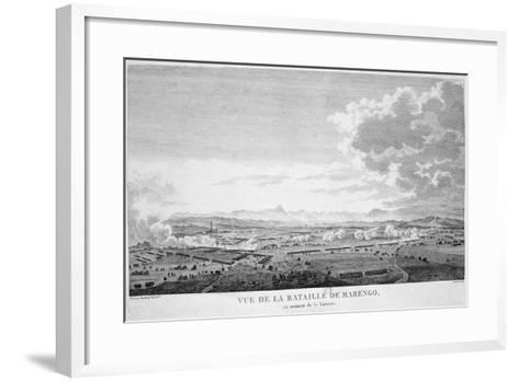 View of the Battle of Marengo at the Moment of Victory, 1800--Framed Art Print