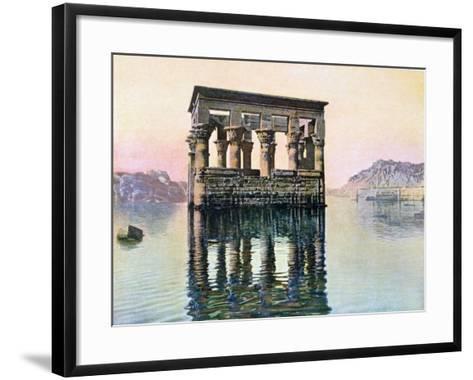 Temple Kiosk of Trajan, Philae, Egypt, 20th Century--Framed Art Print