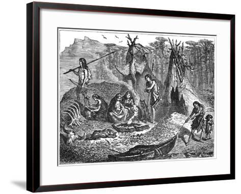 Shell Mound People, 4000-2000 BC--Framed Art Print
