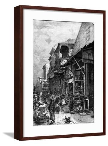 A Market Place in San Francisco, California, USA, Mid 19th Century--Framed Art Print