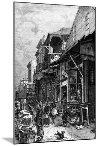 A Market Place in San Francisco, California, USA, Mid 19th Century--Mounted Giclee Print