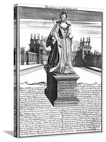 Statue of Queen Anne (1665-171), Blenheim Palace, Oxfordshire, 1738--Stretched Canvas Print