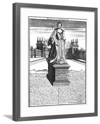 Statue of Queen Anne (1665-171), Blenheim Palace, Oxfordshire, 1738--Framed Art Print