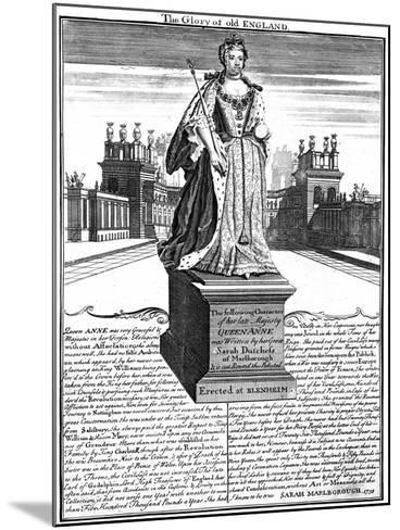 Statue of Queen Anne (1665-171), Blenheim Palace, Oxfordshire, 1738--Mounted Giclee Print