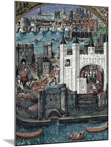 Henry VII at the Tower of London, 1485-1509--Mounted Giclee Print