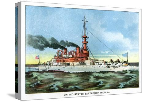 United States Battleship 'Indiana', C1890S--Stretched Canvas Print