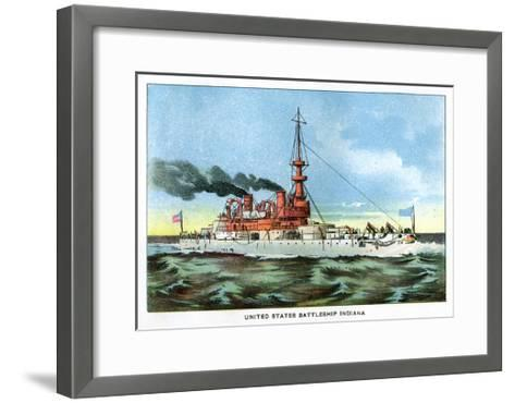 United States Battleship 'Indiana', C1890S--Framed Art Print