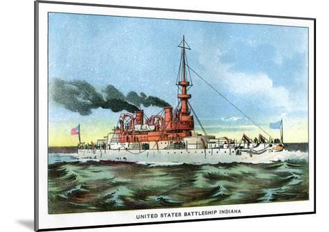 United States Battleship 'Indiana', C1890S--Mounted Giclee Print
