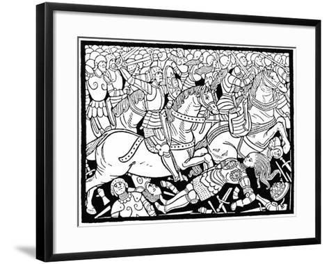 Death of Penthesilea, 1484--Framed Art Print