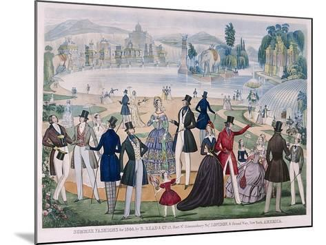 Summer Fashions for 1844--Mounted Giclee Print