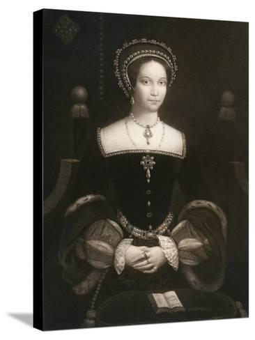 Princess Mary, Later Queen Mary I, C1537--Stretched Canvas Print