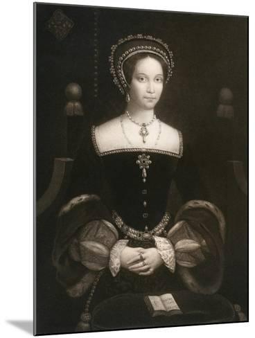 Princess Mary, Later Queen Mary I, C1537--Mounted Giclee Print