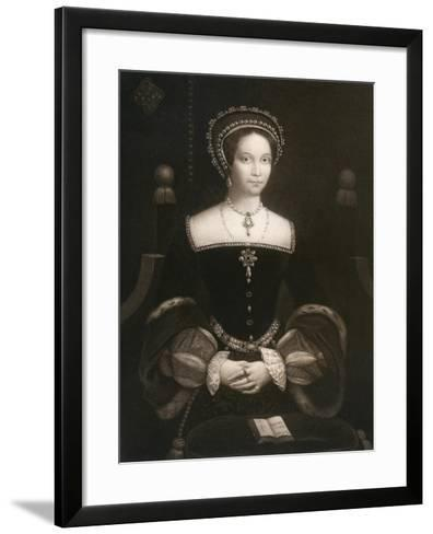 Princess Mary, Later Queen Mary I, C1537--Framed Art Print