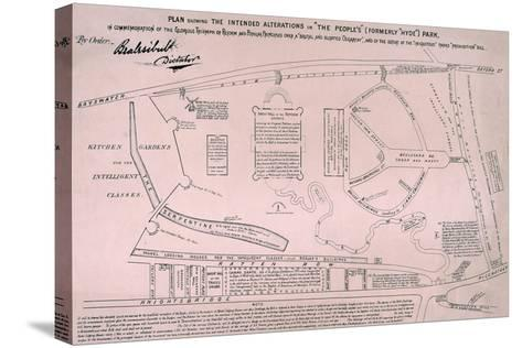Plan of Hyde Park, 1867--Stretched Canvas Print