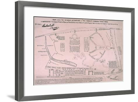 Plan of Hyde Park, 1867--Framed Art Print