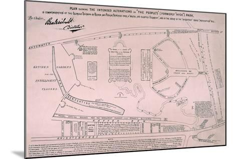 Plan of Hyde Park, 1867--Mounted Giclee Print