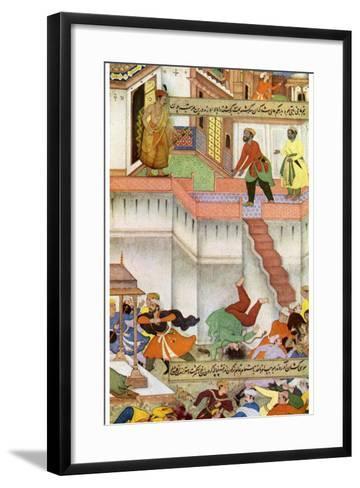 The Killing of Adham Khan by Akbar, C1600--Framed Art Print